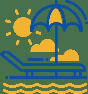 sun lounge icon