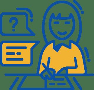 woman at desk icon
