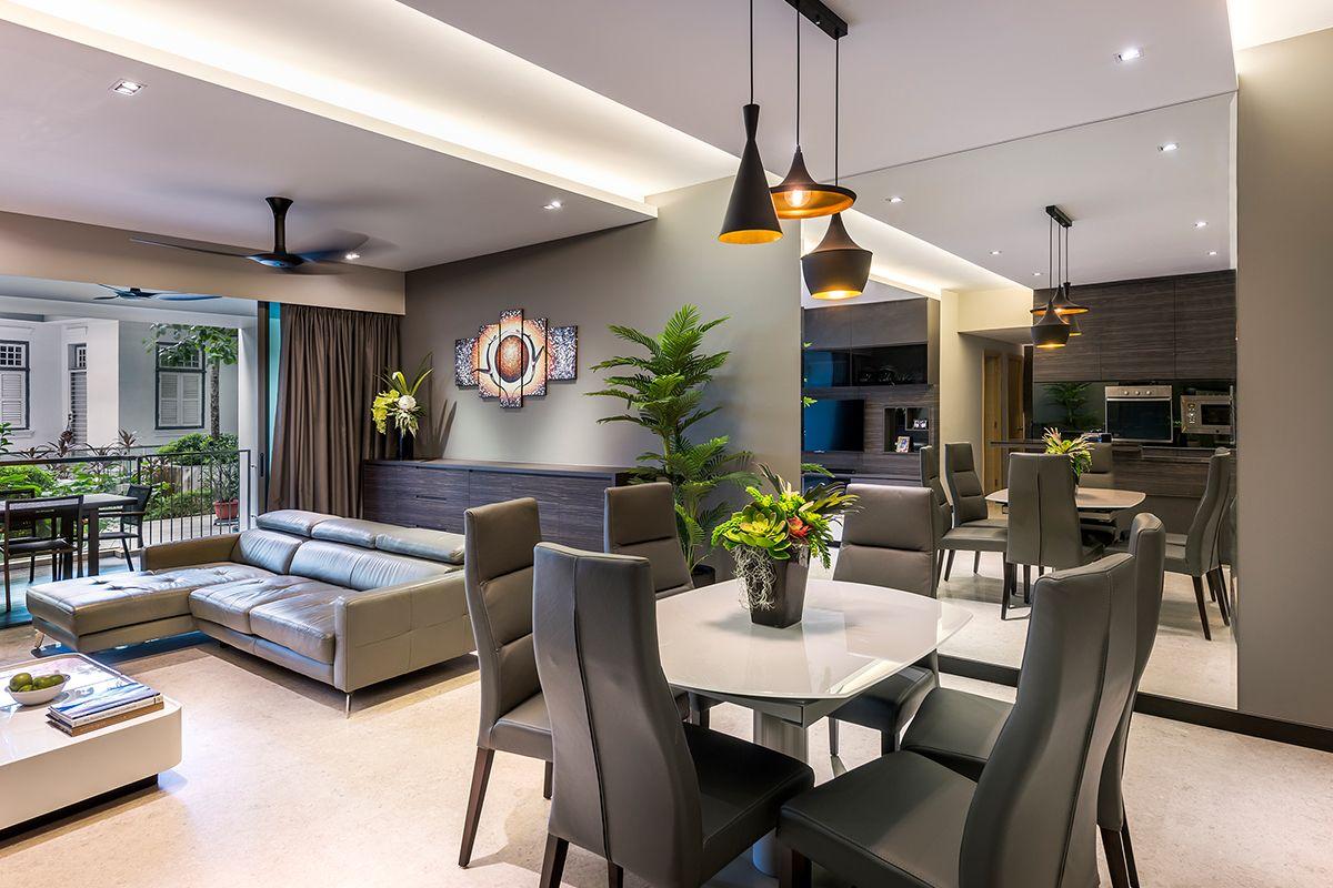 interior design with plants