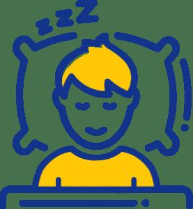 A sleeping man icon