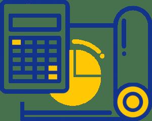 A calculator icon