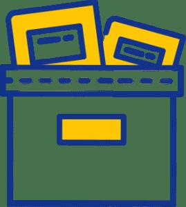 A storage box icon