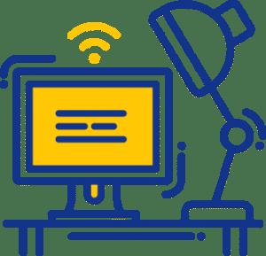 A computer icon