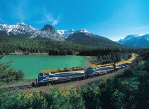 Green Lake Train through the Rocky Mountains