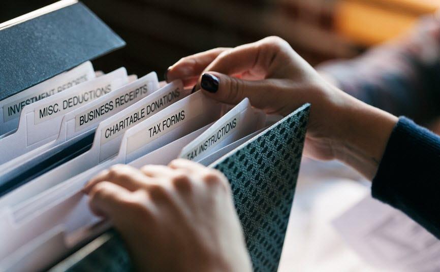 organising receipts