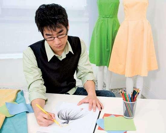 man designing clothes