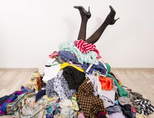 too many clothes