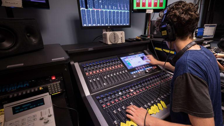 recording in a music studio