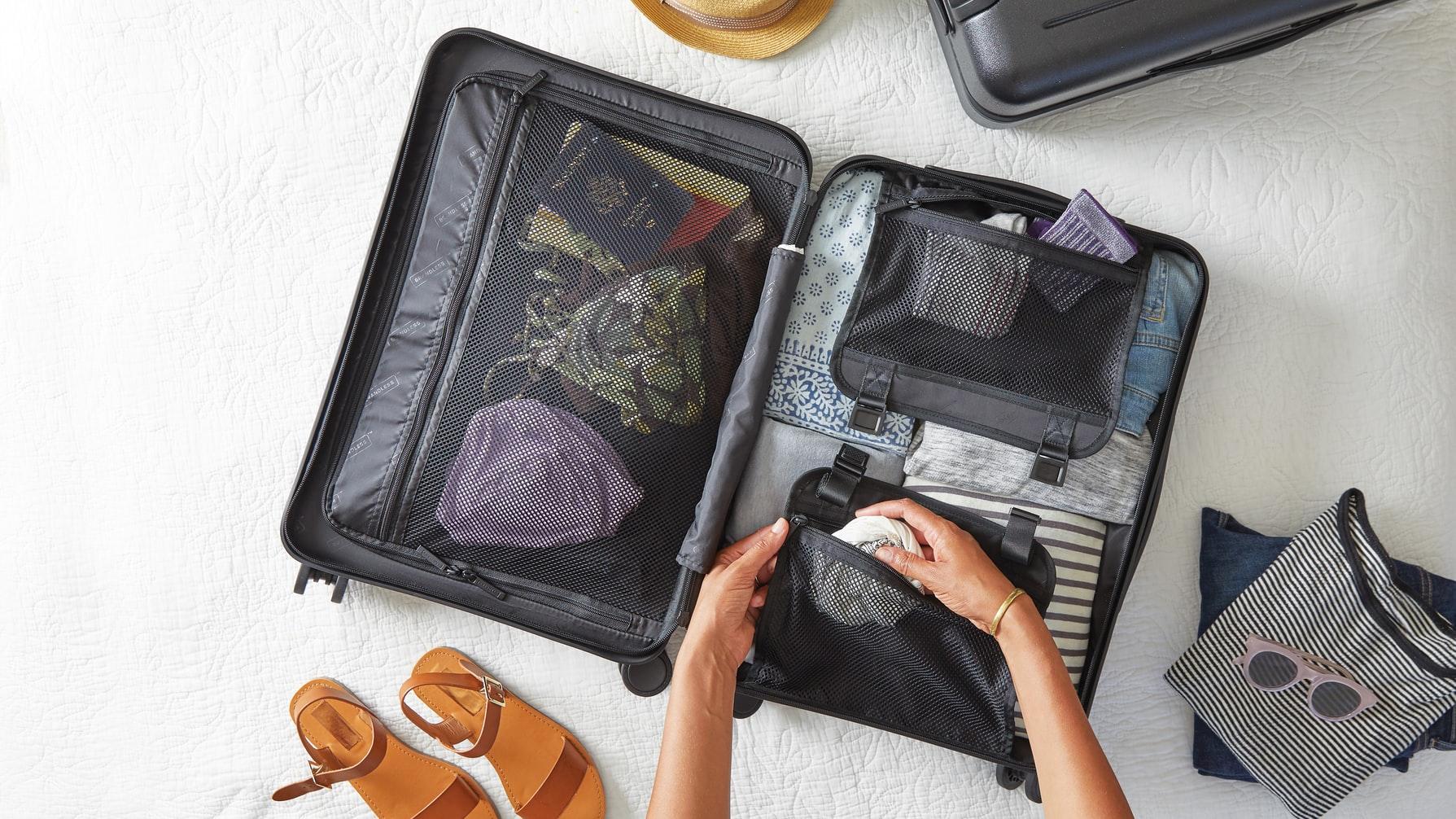 travel flatlay
