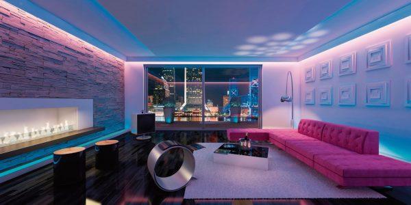 coloured LED lights for home