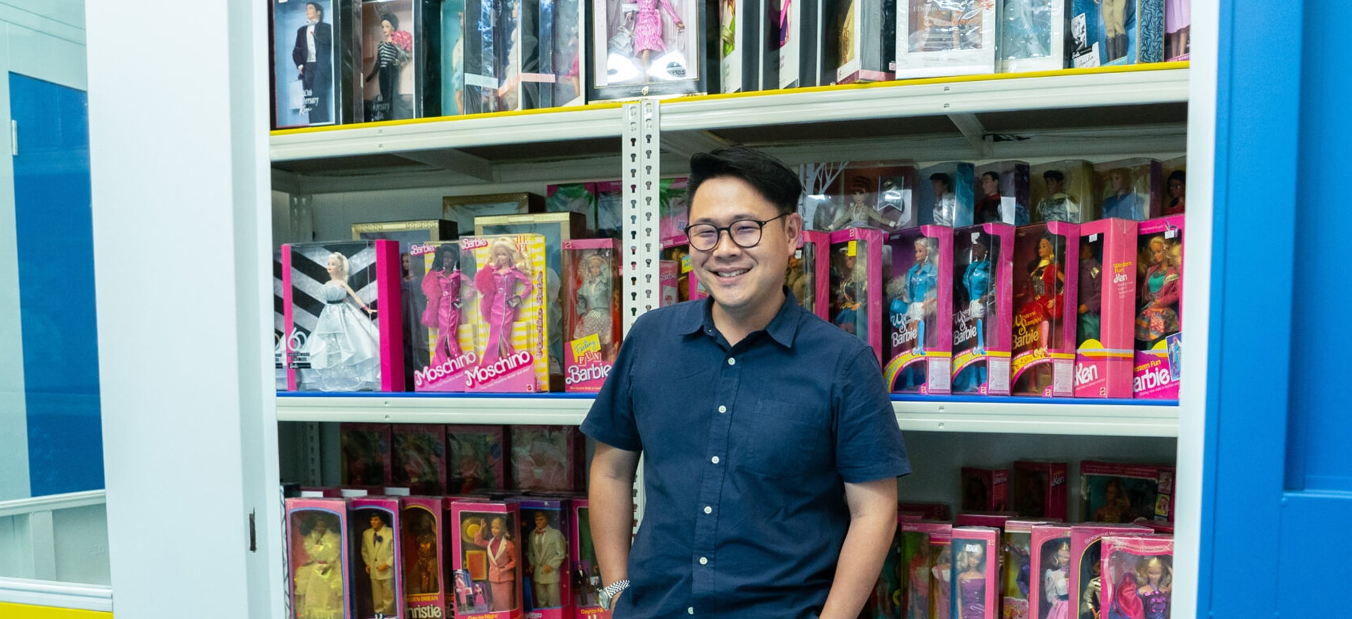 Man with Barbie collection