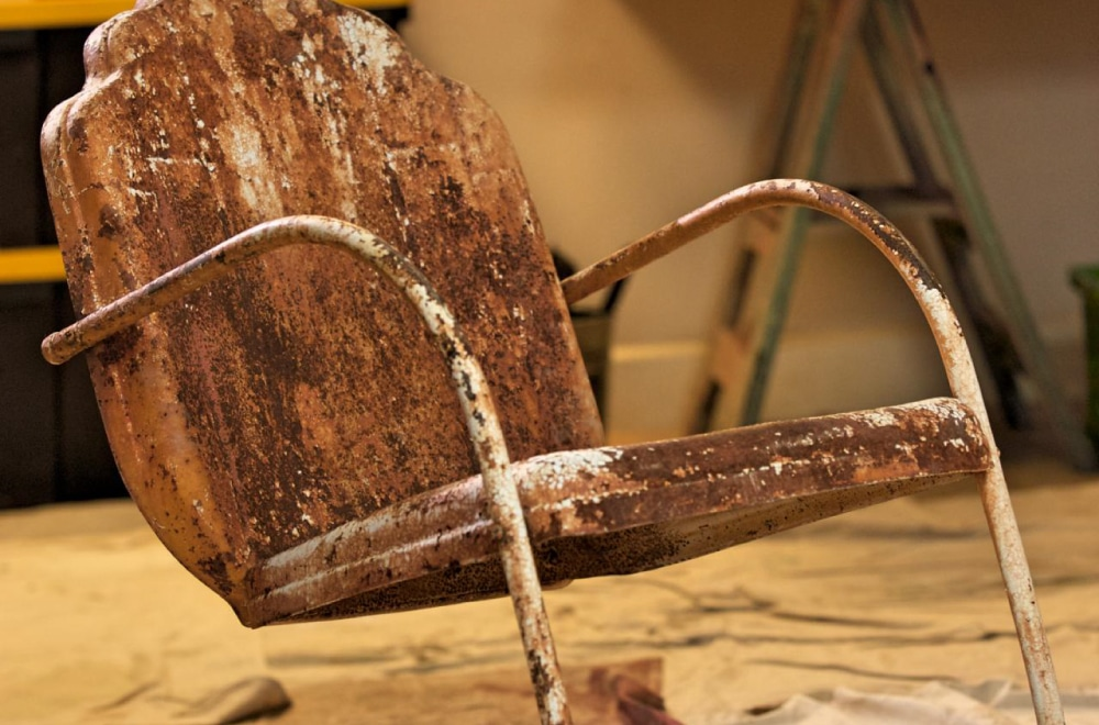 A rusty old chair