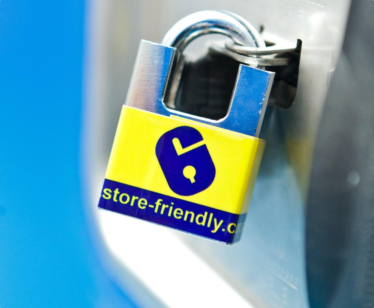A storefriendly padlock