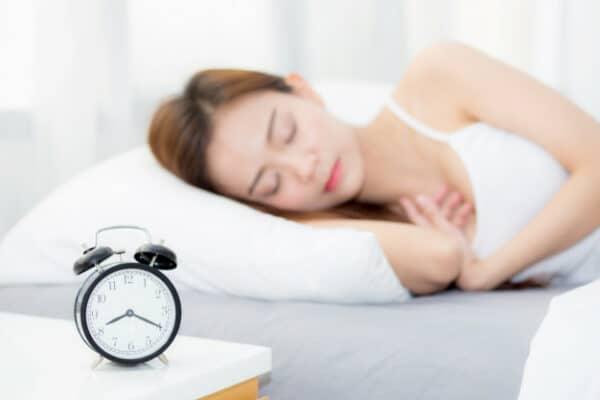 an asian woman sleeping
