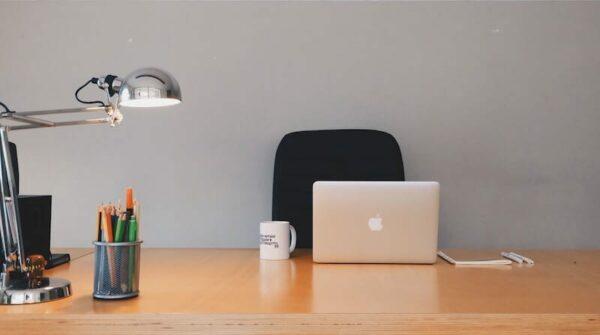 An organised office desk